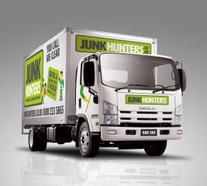 Junk Hunters London Truck Branding