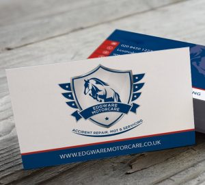 Edgware Motorcare Business Card Branding
