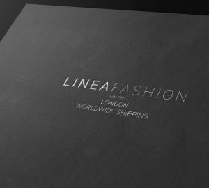 Linea Fashion Silver on Black Branding Logo