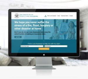 Institute of Loss Assessors Website Desktop View