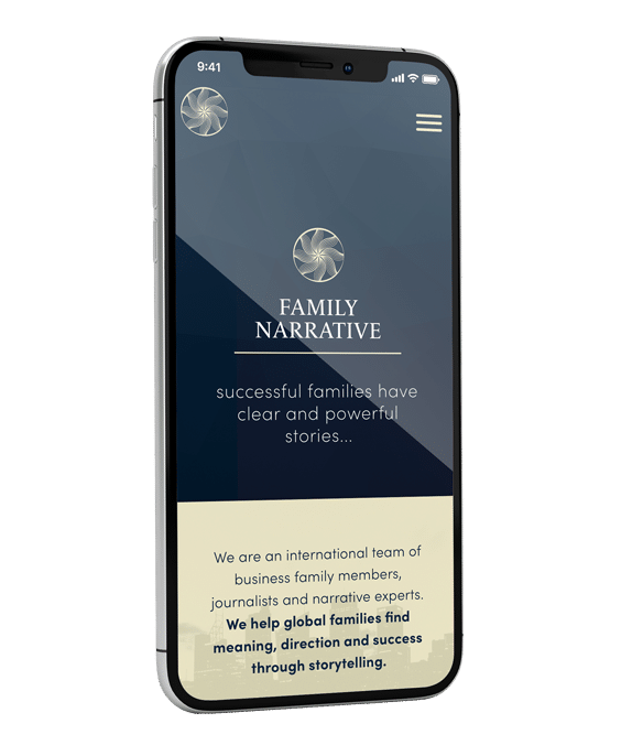 Family Narrative Mobile Website Design