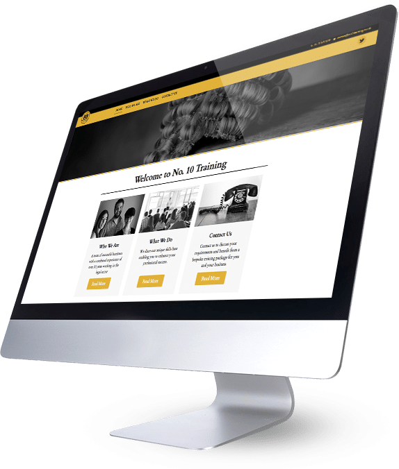 No 10 Training Website Design