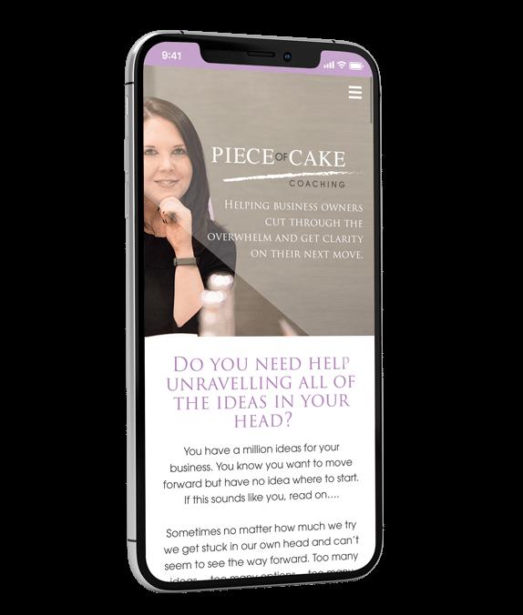 Piece of Cake Website Design