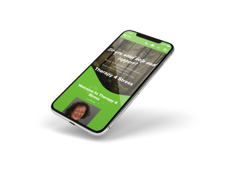 Therapy 4 Stress Mobile Website Design